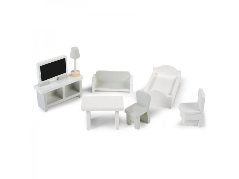 Childhome Mini nábytek dřevěný 8 ks