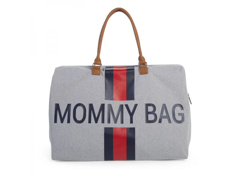 Přebalovací taška Mommy Bag Grey Stripes Red/Blue 1