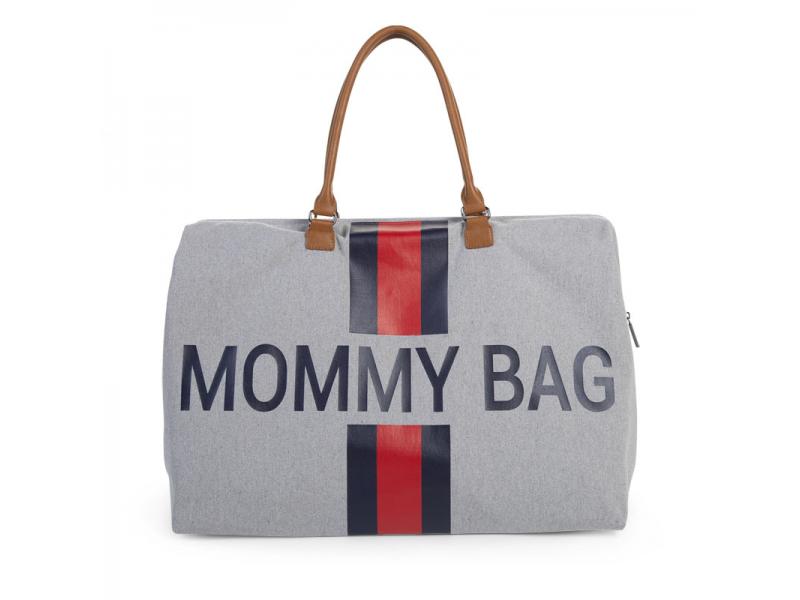 Přebalovací taška Mommy Bag Grey Stripes Red/Blue 1