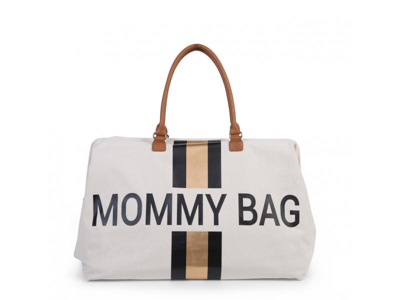 Přebalovací taška Mommy Bag Big Off White / Black Gold 1