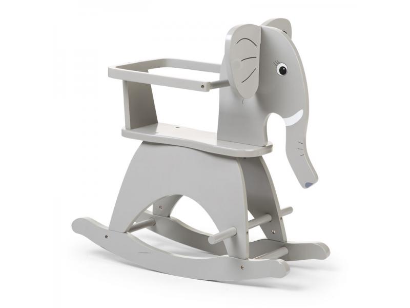 Houpací slon dřevěný Grey 1
