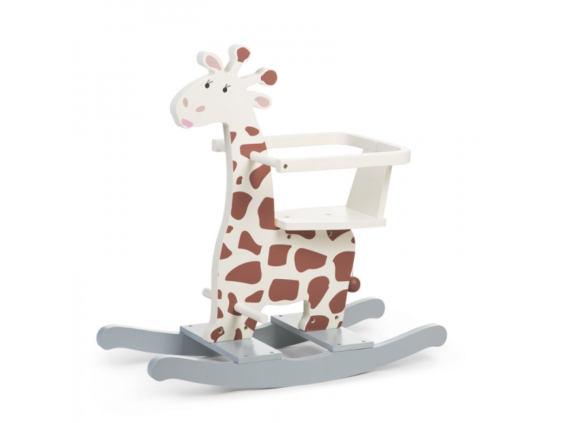 Houpací žirafa dřevěná 1
