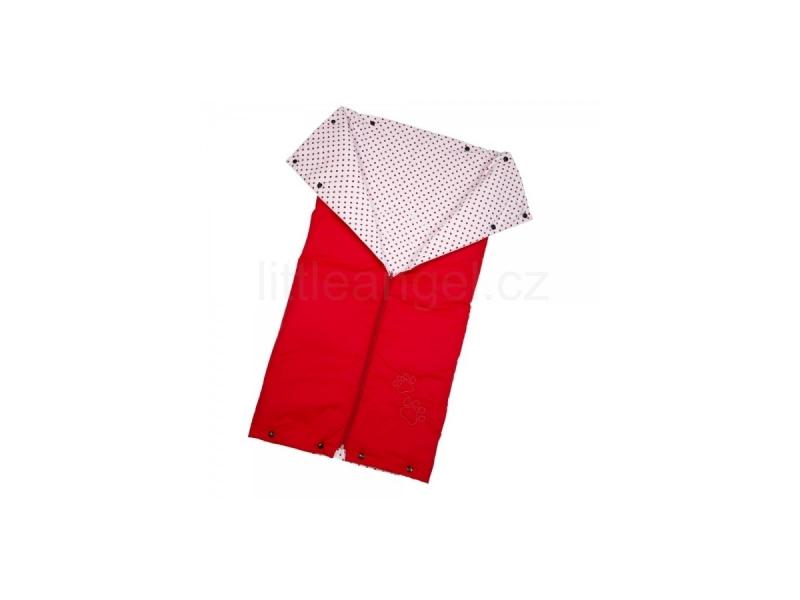 Little Angel Autofusak ŤAPKA tenký červená/červený puntík 90x90cm