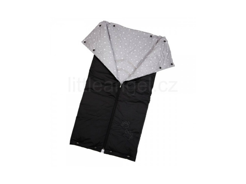 Little Angel Autofusak ŤAPKA tenký černá/šedá hvězda 90x90cm