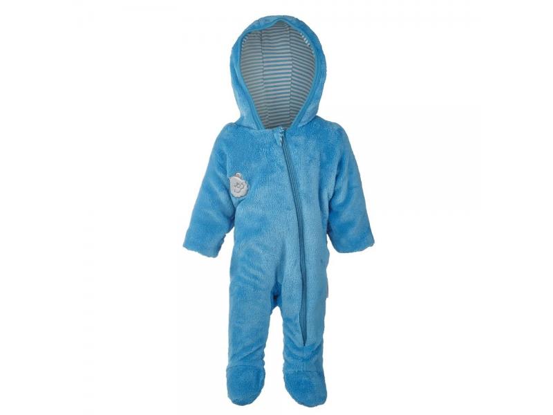 Little Angel Overal zimní MAZLÍK Outlast® vel.80 azurově modrá/pruh azurový