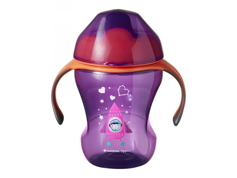 Netekoucí hrnek Sippee Cup 230ml 7m+ Pink 1