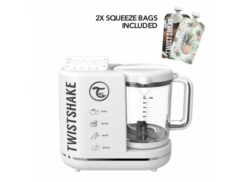 Multifunkční mixér 6 v 1 Bílá včetně 2x plnitelná kapsička 1