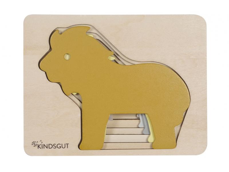 KINDSGUT Dřevěné puzzle lev