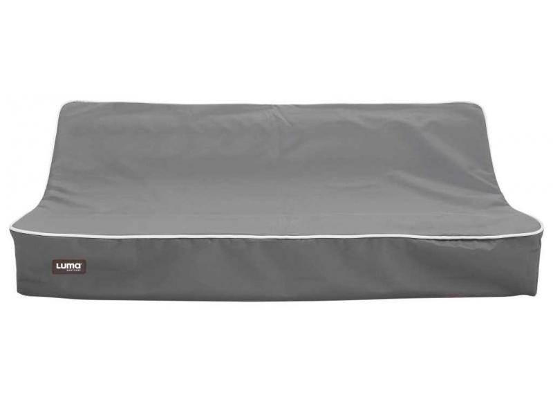 Přebalovací podložka dvoustranná Luma 72x44 s PU potahem Dark Grey 1