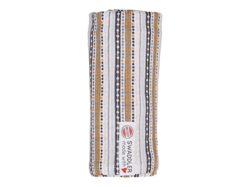 Swaddler Stripe Xandu 120 x 120 cm Honey 1