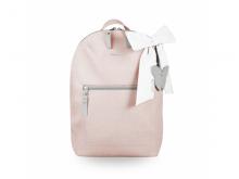 BEZTROSKA Batůžek Miko s mašlí pink powder