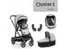 Oyster 3 Základní set 4 v 1 TONIC (CITY GREY rám) 2022 kočár + hl.korba + autosedačka + adaptéry