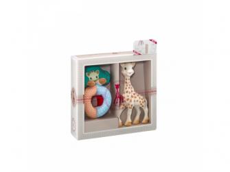 Můj první dárkový set (žirafa Sophie & měkké chrast. s korálky kolekce Sense & Soft) 2