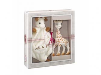 Můj první dárkový set (žirafa Sophi*přebe & mazlík s klipem na dudlík)