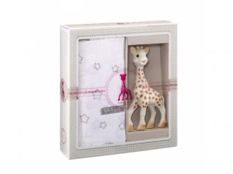 Můj první dárkový set (žirafa Sophie & zavinovačka o rozměrech 120 x 120 cm)