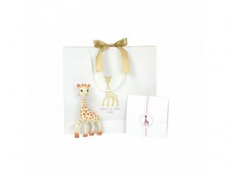 Můj první dárkový set (žirafa Sophie & mazlík s klipem na dudlík & set 3 plen 70 x 70 cm) 3