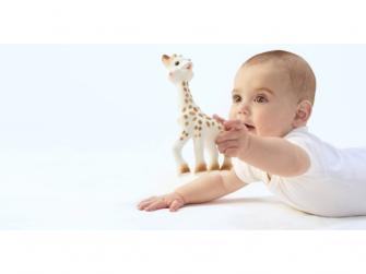 Můj první dárkový set (žirafa Sophie & mazlík s klipem na dudlík & set 3 plen 70 x 70 cm) 7
