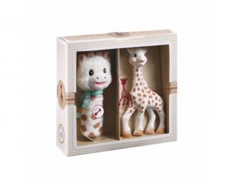 Dárkový set: žirafa Sophie + plyšové chrastítko 8