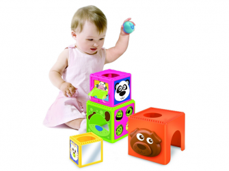 Skládací kostky Busy Baby Stackers 3