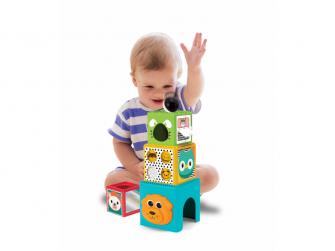 Hrací pult Happy Hoops a skládací kostky Busy Baby 3