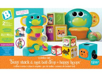 Hrací pult Happy Hoops a skládací kostky Busy Baby 4