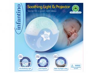 Noční lampička s projekcí modrá 6