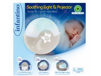 Noční lampička s projekcí ecru 6