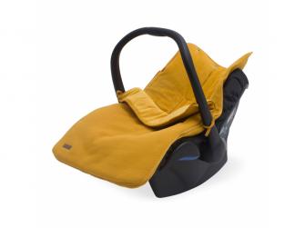 Komfortní fusak do autos. Brick velvet mustard