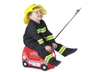 Kufřík + odrážedlo hasičský vůz Frankie 10