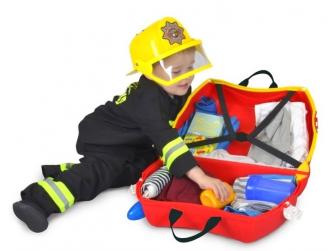 Kufřík + odrážedlo hasičský vůz Frankie 4