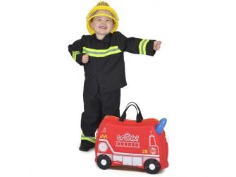 Kufřík + odrážedlo hasičský vůz Frankie 5