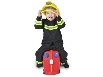 Kufřík + odrážedlo hasičský vůz Frankie 7