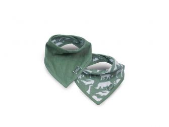 Bryndák - Bandana bib Safari 2ks, FOREST GREEN
