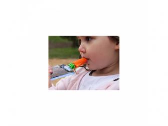 netekoucí savičky na přesnídávky růžová/oranžová- 2 ks  2