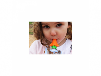 netekoucí savičky na přesnídávky růžová/oranžová- 2 ks  3