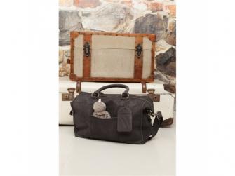 Lugnano přebalovací taška z kůže - dark grey leer 5