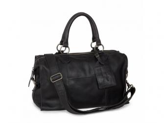 Lugnano přebalovací taška z kůže - dark grey leer