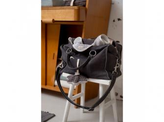 Lugnano přebalovací taška z kůže - dark grey leer 4