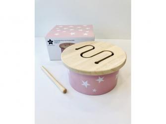 Mini bubínek dřevěný Pink