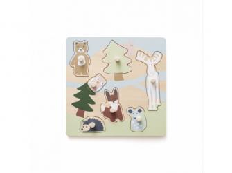 Puzzle dřevěné s úchytkami Edvin