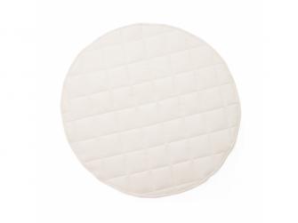 Hrací deka kulatá Off White
