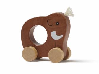 Mamut na kolečkách dřevěný Neo