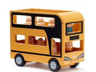 Autobus Doubledecker Aiden dřevěný 2