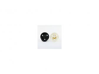 Dudlíky black-ivory - velikost 1, zpřírodního kaučuku 2ks