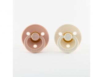 Dudlíky blush-ivory - velikost 1, zpřírodního kaučuku 2ks