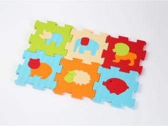 Puzzle pěnové 46,5x31,5 cm zvířátka