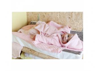 Dětský froté župan Venice  62/68 baby pink 5