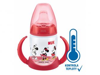 Učící lahev Mickey s kontrolou teploty 150ml 2