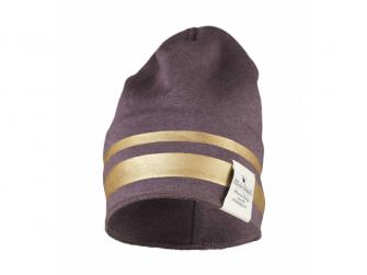 Zimní bavlněná čepice - Gilded Plum 0-6m