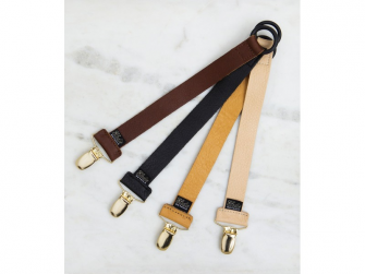 Klips na dudlík Exclusive Collection Leather Brown 2